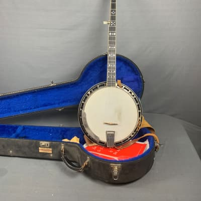 Gretsch  ODE C Model 6505  5 String Banjo  1980 Nickel Walnut with blue lined Hardshell Case for sale