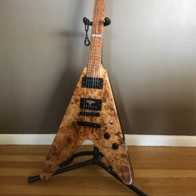$AVE 20% CyberMonday! Black Diamond Colossus  FlyingV (offset points) Custom Guitar Hand Crafted for sale