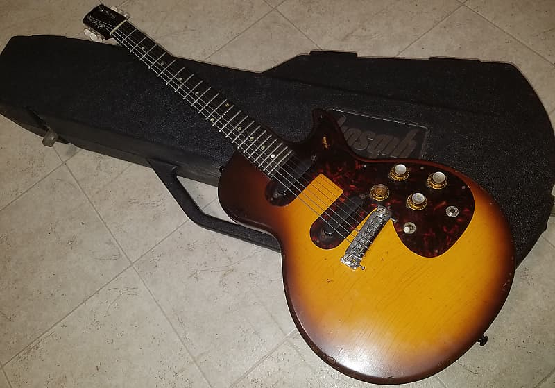 1960/61 Epiphone Olympic D Double 2 Pickup Sunburst Single Cutaway Melody  Maker