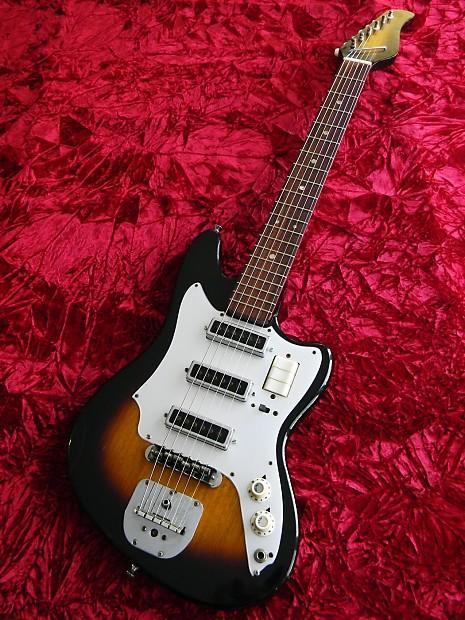 Norma Japan Vintage 1965 Electric Guitar 3 Pickup Sunburst | Reverb