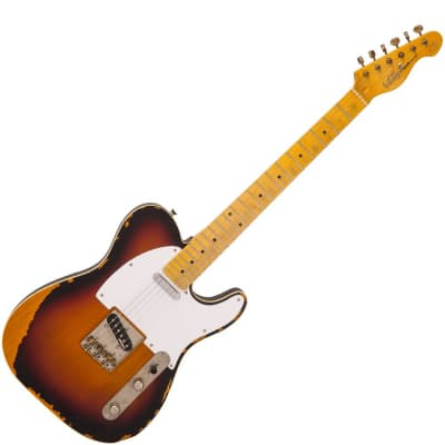 Vintage V59 ICON Electric Guitar, Distressed Sunburst