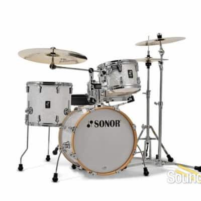 Sonor 4pc AQ2 Bop Drum Set - White Marine Pearl