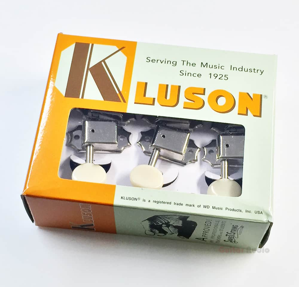 Excellent Kluson guitar tuners on a strip not