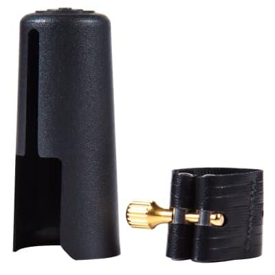 Gold Fittings Rovner V-2MA Versa Ligature with Cap for Metal Alto Sax