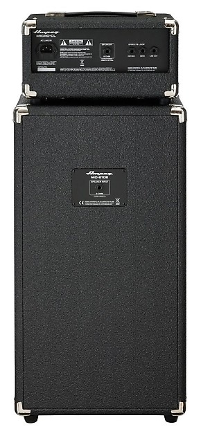 ampeg micro cl micro cl bass amp stack 100 watt head with 2 reverb. Black Bedroom Furniture Sets. Home Design Ideas