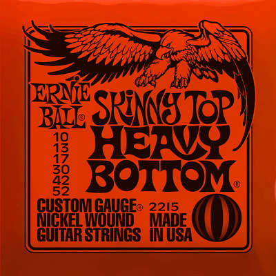 Ernie ball Slinky Nickelwound Skinny Top Heavy Bottom Guitar Strings 10 - 52 for sale