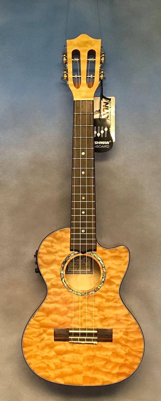 lanikai qm nacet quilted maple tenor ukulele with electronics reverb. Black Bedroom Furniture Sets. Home Design Ideas