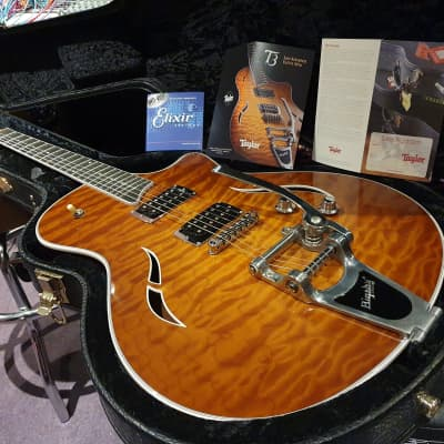 USA Taylor T3-B Factory Bigsby Quilt Top American Semi-Hollowbody Guitar! Gretsch destroyer!