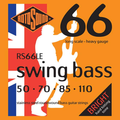 Rotosound RS66LE Stainless Steel Swing  Bass Guitar Strings Gauge 50-110