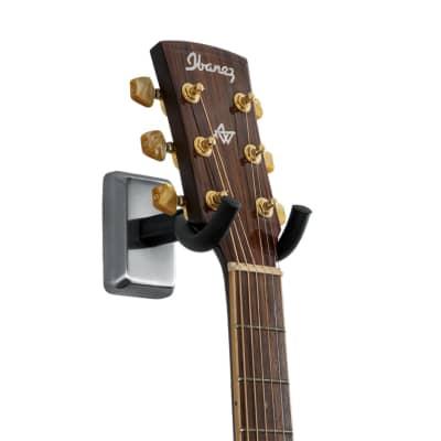 Gator Frameworks Guitar Wall Mount Hanger - Satin Chrome Finish