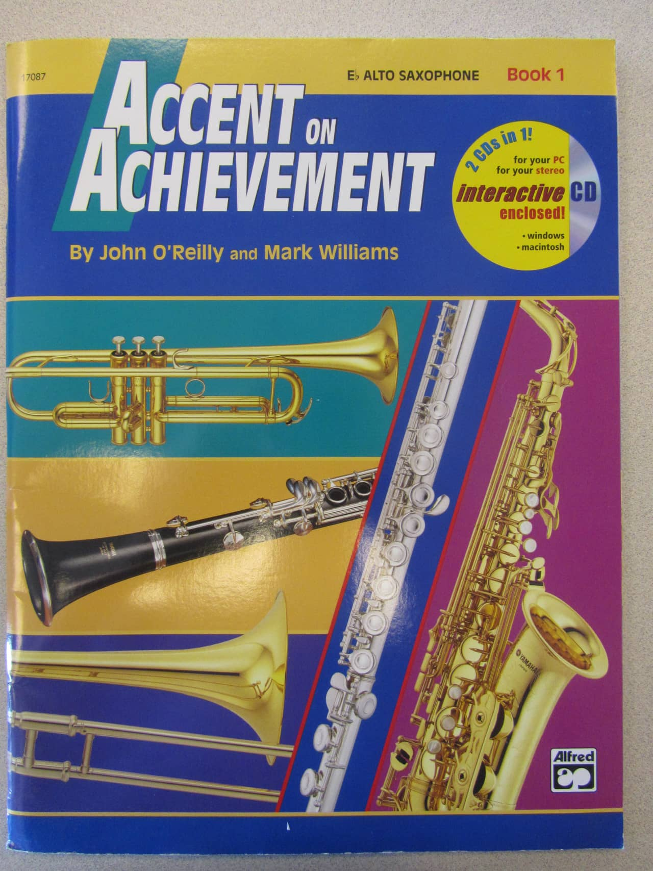 accent on achievement e flat alto saxophone beginners method reverb. Black Bedroom Furniture Sets. Home Design Ideas
