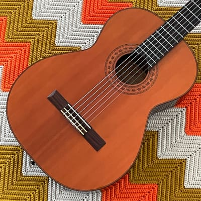 Lyle C-620 - Perfect Nylon String Guitar! - Solid Red Cedar Top! - Pro Neck Repair! - 1970's Made in Japan ! - for sale