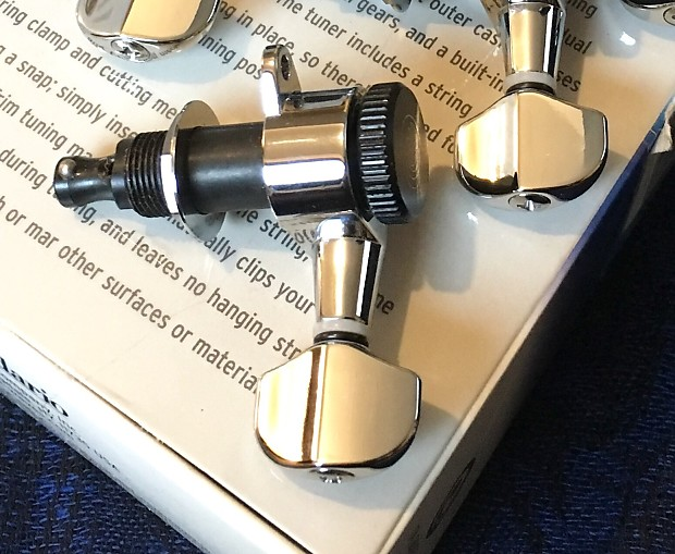 🔹D'Addario Planet Waves Auto-Trim Tuning Machines Chrome, 6 In-line Right  🔹