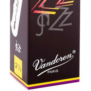 Vandoren SR4425 ZZ Baritone Saxophone Reeds - Strength 2.5 (Box of 5)