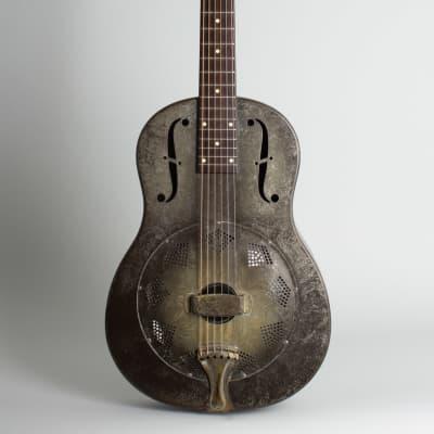 National  Duolian Resophonic Guitar (1931), ser. #C-1551, brown hard shell case. for sale