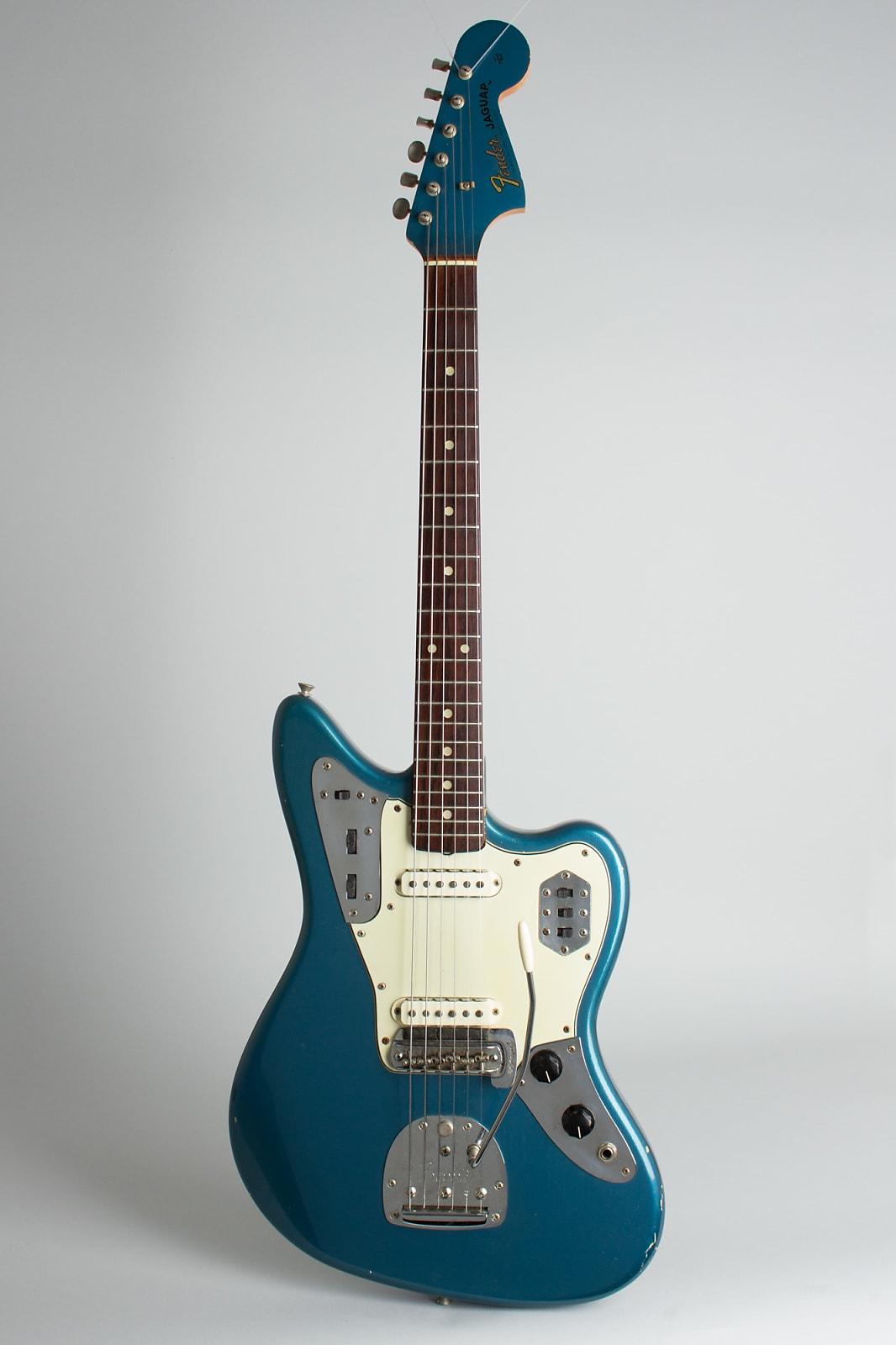 Fender  Jaguar Solid Body Electric Guitar (1964), ser. #L41597, original black tolex hard shell case.
