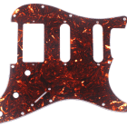 Custom Guitar Pickguard For Strat HSS Layout Squared ,4ply Brown Tortoise image