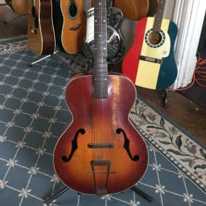 Old Kraftsman Archtop Acoustic Guitar circa 1950 Tobacco Burst for sale