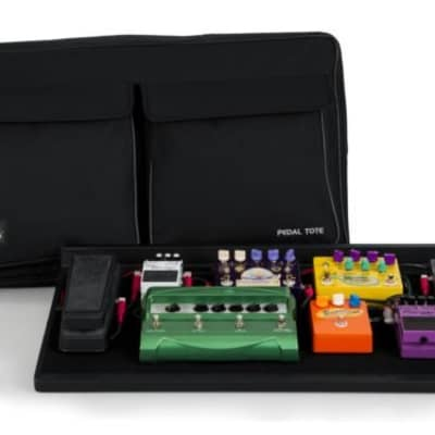 Gator GPT-PRO-PWR Pedal Tote 16x30 Pedalboard w/ Carry Bag & Power Supply