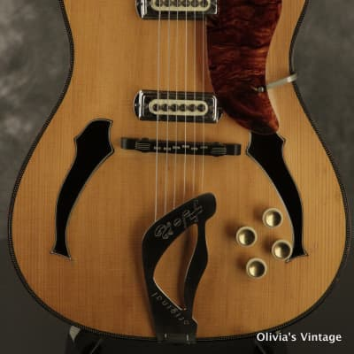 RARE 1960's HOPF Special elec archtop Blonde flamed back + sides made in Germany for sale