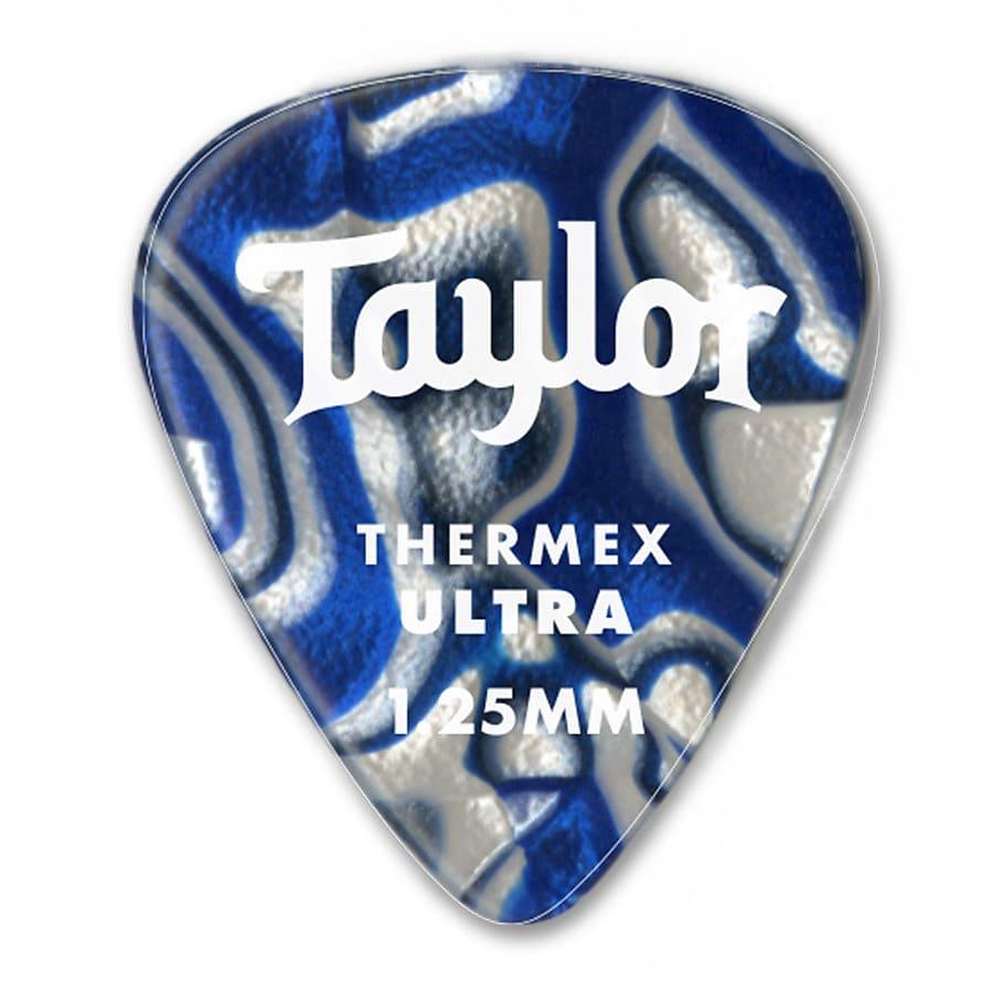 Taylor Prem 351 Thermex Ultra Picks Blue Swirl  1.50mm 6-Pack