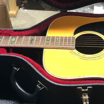 D'Agostino D-60 D-35 Style Acoustic Guitar W/OHSC Natural for sale