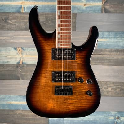 ESP LTD H-200 FM Dark Brown Sunburst S/N 18031016 for sale