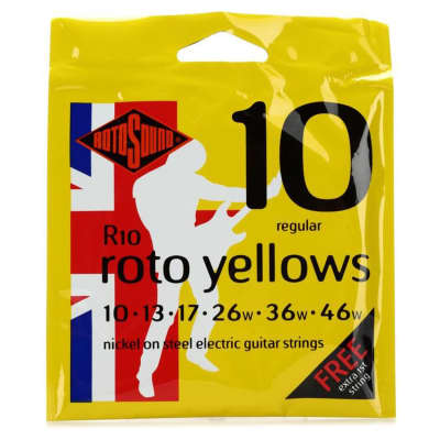 Rotosound R10 Yellows Electric Guitar Strings 10-46