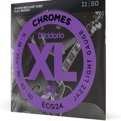 D'Addario ECG24 Guitar Strings Set, Chromes, Jazz Light 11-50