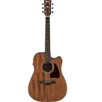 Ibanez AW54CEOPN Artwood Okoume Open Pore Dreadnought with Cutaway
