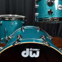 DW Drums sets Drum Workshop Collector's Maple Mahogany Teal Glass 13, 16, 24 kit