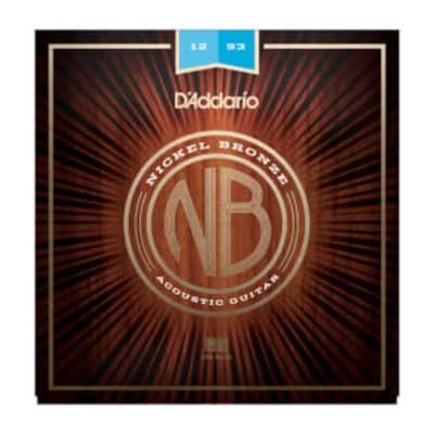 D'Addario NB1253 Nickel Bronze Acoustic Guitar Strings - Regular Light 12-53