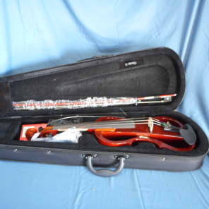 Stagg EVN-X-4/4-VBR Silent Violin Set w/ Case, Headphones