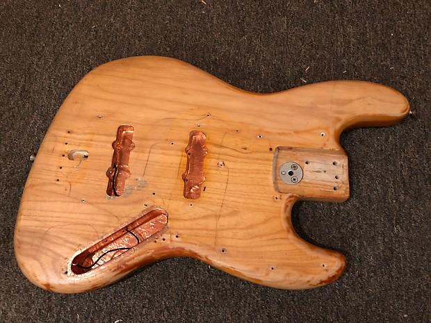 1974 1975 1976 Fender Jazz Bass Body Natural Reverb