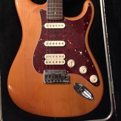 Fender American Deluxe Fat Stratocaster HSS with Rosewood Fretboard 2004 - 2010 Amber for sale