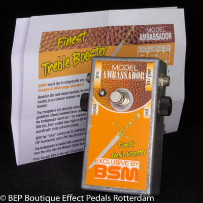BSM Ambassador Custom Mid-Voiced Treble Booster s/n 1814 Handmade in Germany