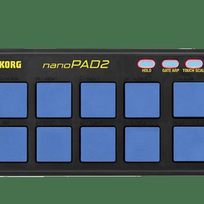 Korg nanoPAD2-BLYL (Blue) Slim USB Pad MIDI Controller