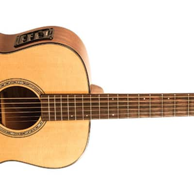 Demo - Washburn WLO100SWEK Woodline Solid Wood Series Orchestra Body Acoustic Electric Guitar with Factory Case for sale
