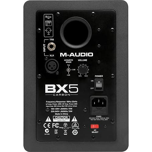 m audio bx5 carbon monitor two way studio monitor with reverb. Black Bedroom Furniture Sets. Home Design Ideas