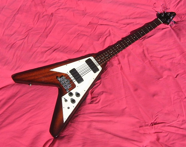 gibson epiphone flying v bass guitar 1998 brown one off reverb. Black Bedroom Furniture Sets. Home Design Ideas