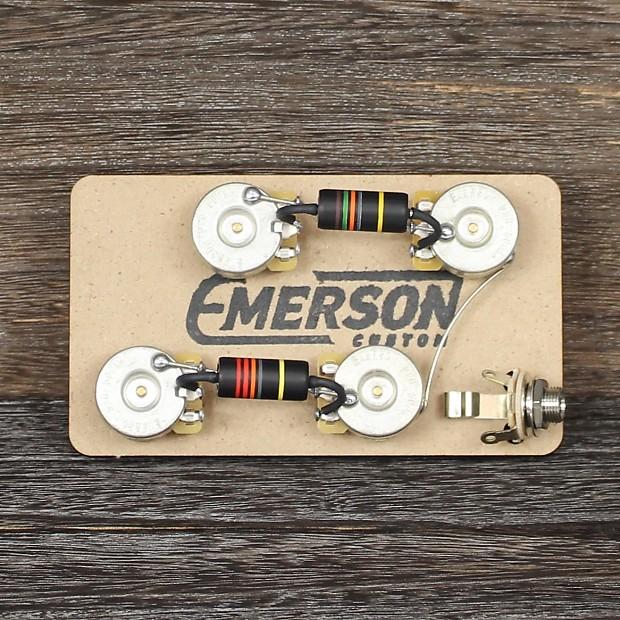 Emerson Les Paul Wiring Harness : Emerson custom lp bb long k way les paul prewired