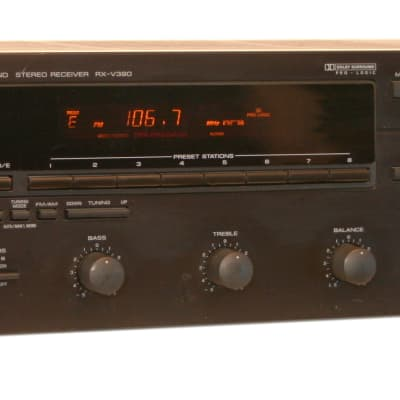 Yamaha RX-V390 Stereo Receiver 5 Channel Dolby Surround Home Theater 60 Watt Per Channel Black