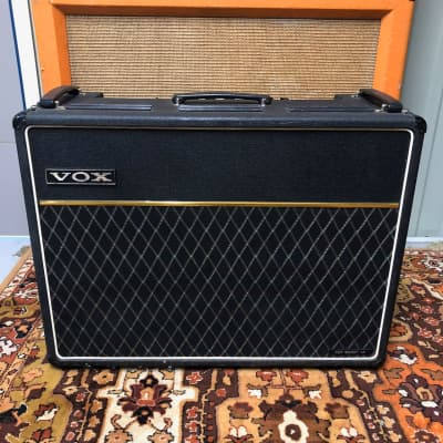 Vintage 1971 Vox AC30 Top Boost Twin 2x12 Grey Panel Valve Amplifier Combo Pedal