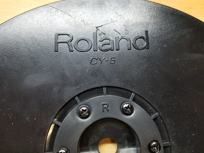 roland cy 5 dual trigger cymbal pad w clamp mount hi reverb. Black Bedroom Furniture Sets. Home Design Ideas