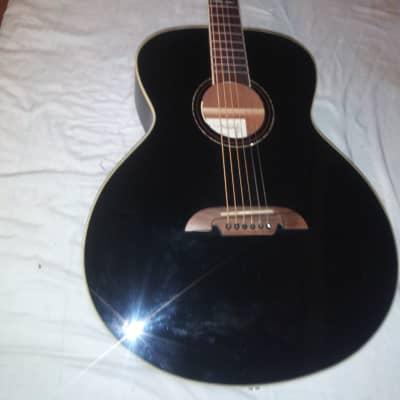 Alvarez Abt610ebk baritone Black acoustic electric guitar