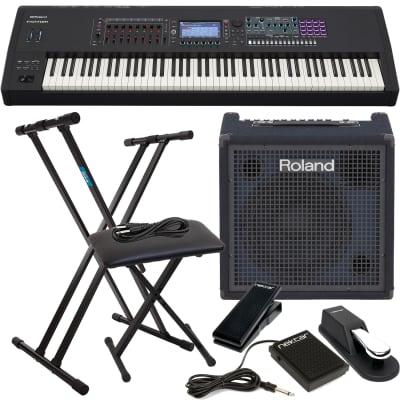 Roland FANTOM 8 88 Workstation Keyboard, Keyboard Stand and Bench, Roland KC400,  Sustain Pedal, Nektar NX-P, Nektar NP1, 1/4 Cable Bundle