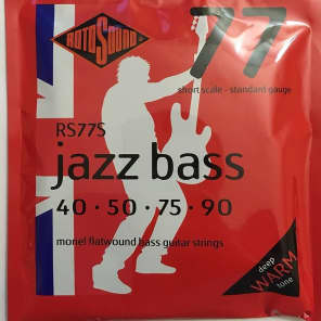 Rotosound RS77S 77 Jazz Monel Flatwound Bass Strings (40-90)