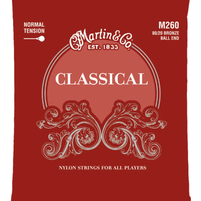 Martin M260 80/20 Bronze Classical Ball End Strings - Normal Tension