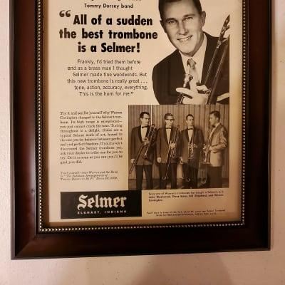 1958 Selmer Horns Promotional Ad Framed Warren Covington Tommy Dorsey Band Original