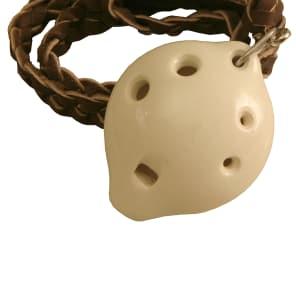 Dobani ONSD-W Soprano Ocarina with Braided Necklace
